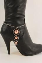Moda Donna Stivali Catenina Metallo Argento Grande Rame BALLS Scarpe Cin... - $26.41