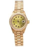 President style rolex DJ watch champagne diamon... - $5,727.15