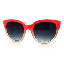 Womens Oversized Butterfly Cateye Frame Sunglasses 2-tone Ombre Colors - $9.95