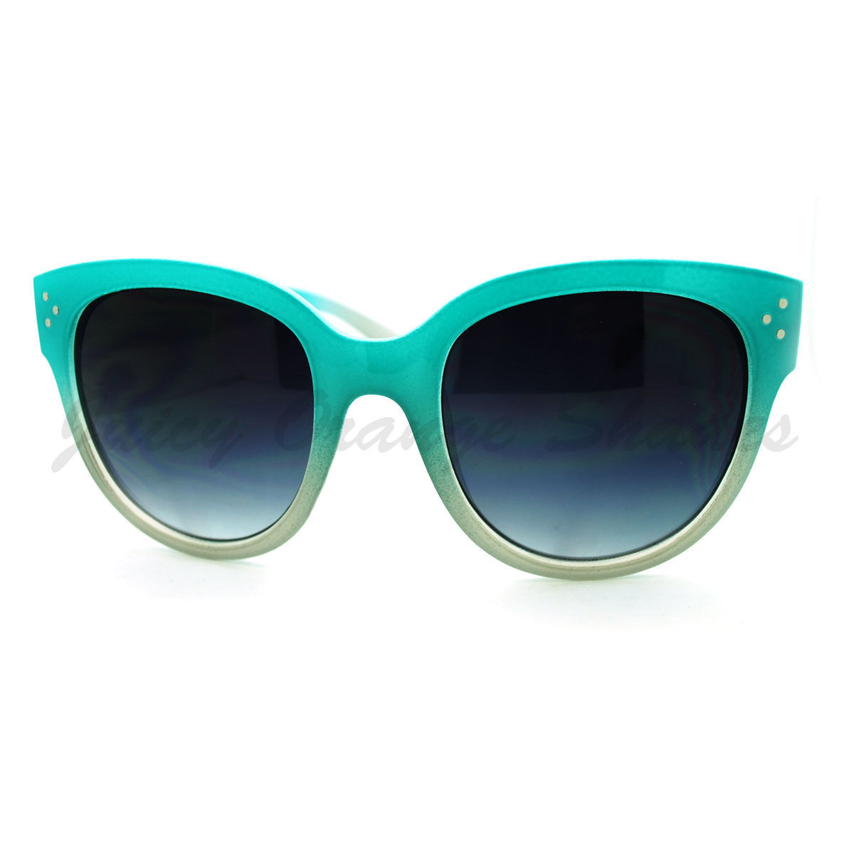 Womens Oversized Butterfly Cateye Frame Sunglasses 2-tone Ombre Colors