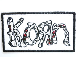 KORN Black & white Logo Nu Metal Sew On Embroidered Patch - $4.99