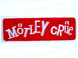MOTLEY CRUE Logo Heavy Metal Rock Sew On Embroidered Patch - $4.99