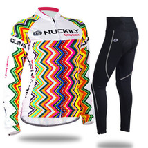 An item in the Sporting Goods category: Women's Cycling Clothing Bicycle Long Sleeve Jersey&Pant Sets Breathable Gel Pad
