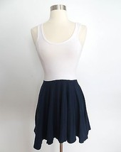 Urban Outfitters size EXTRA SMALL XS blue white sleeveless dress - £22.55 GBP