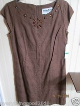 LADIES DRESS SIZE 10 BROWN   ANOTHER THYME NWT - $15.99