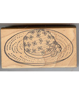 Stamp Corner Rubber Stamp JH-123 Spring Hat with Flowers on it. S5 - $8.32
