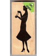Hero Arts Rubber Stamp New K-5519 Silhouette Woman with Pearls S11 - $14.50