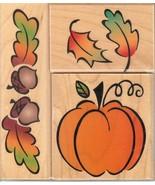 Hero Arts Rubber Stamp Set LL-886 Autumn Harvest Fancy Notes S15 - $15.48