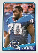 Leonard Marshall 1988 Topps # 281 - $1.25