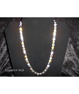 """MEA Original, Multi-Color Swarovski Crystals Necklace, 17 1/2"""", Silver P... - $60.94"""