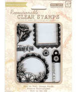 Hero Arts, Basic Grey Acrylic Stamps CL548 Enjoy B2 - $12.59