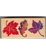 All Night Media Rubber Stamps 550-J18 Swirling Autumn Leave Falling, Nat... - $7.83