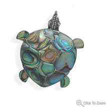 Paua Shell Beautiful Turtle Pin/Pendant SSM - $48.37