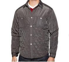 NWT Scott James Designer Mens Basil Brick Gray Quilted Jacket, Size XL - $19.99