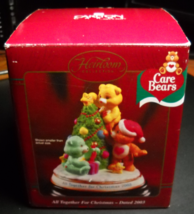 Carlton Cards Heirloom Ornament 2003 Care Bears All Together For Christm... - $12.99
