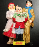 Coca Cola Town Square Collection Accessory 1994 Singing Carolers in Orig... - $7.99