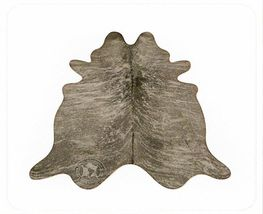 Grey Brindle Brazilian Cowhide Rug Medium 32 to 36 s.f. - $499.00