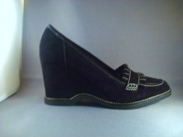VIA SPIGA WOMENS BLACK SUEDE HEELS SIZE 10 NEW $155 - $46.00