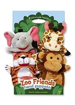4-Piece Zoo Animal Cute Fabric  Hand Puppets - ... - $28.81