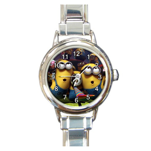 Minions despicable me 3d movie ladies round italian charm wrist watch 1 wristwatches for Despicable watches