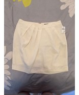 GAP Ivory Silk Like Mini-skirt W/gathered Waist... - $14.99