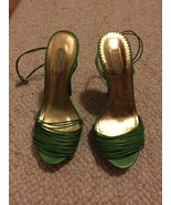Report Signature Rhea Green Strappy  5 Inch Woo... - $29.99