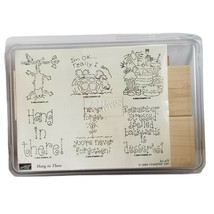 Stampin Up Hang In There New 2002  Desserts Cat Turtle Pie 6 Wood Rubber... - $25.20