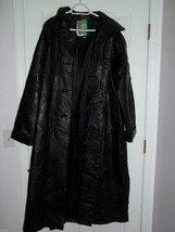 UNISEX BLACK ITALIAN LEATHER COAT - $200.00