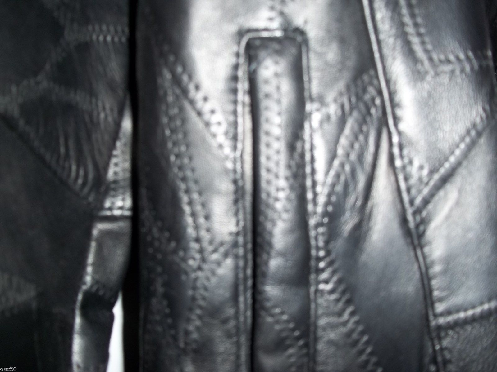 UNISEX BLACK ITALIAN LEATHER COAT