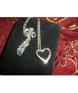 SILVER HEART  NECKLACE - $12.00