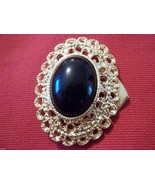 GOLD PLATED  LARGE OVAL STONE NECKLACE CLASP - $8.00