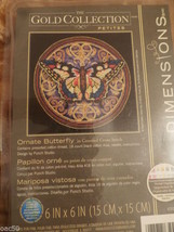 Gold Collection Petites Ornate Butterfly Cross Stitch Kit - $12.00