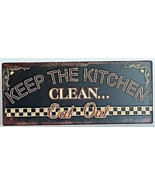 Keep The Kitchen Clean Antique Style Wall Art Home Decor - $13.00