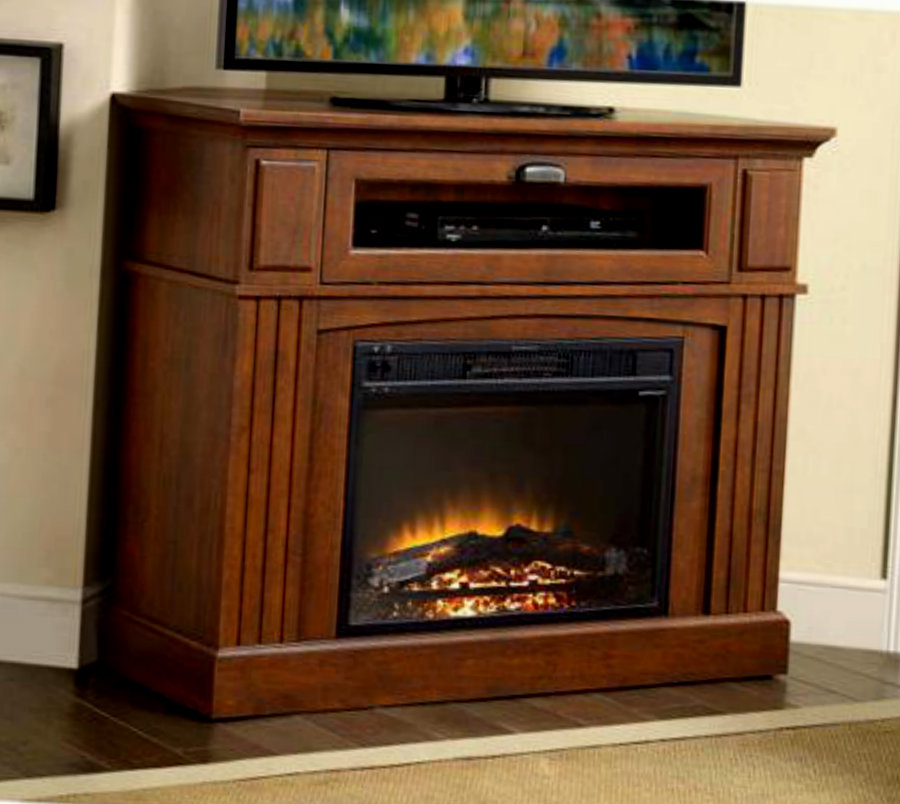 corner electric fireplace mantel heater entertainment tv