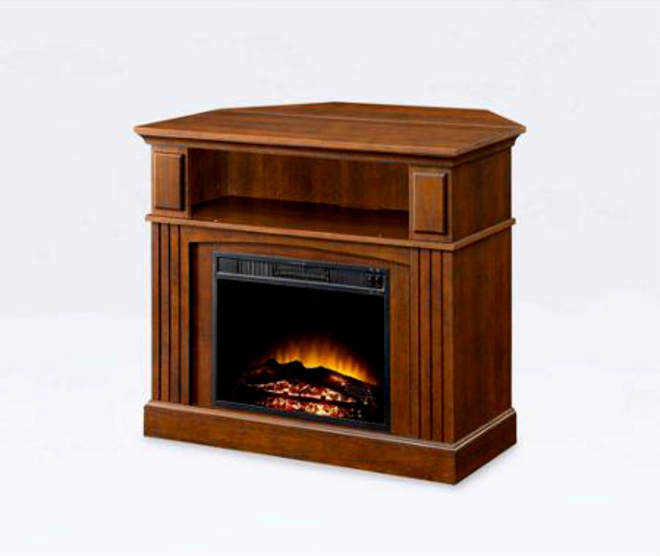 Corner Electric Fireplace Mantel Amp Heater Entertainment Tv
