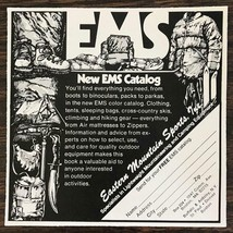 1977 EMS Eastern Mountain Sports Print Ad Cool Illustrations - $7.64