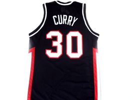 Stephen Curry #30 Davidson College Wildcats Basketball Jersey Black Any Size image 5