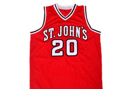 Chris Mullin #20 St John's University Men Basketball Jersey Red Any Size image 4