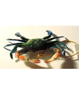 Beautiful Blue Crab Plastic Ornament 3.5 inches - $8.00