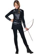 Warrior Huntress Tween Costume Everdeen Katniss Hunger Games All Black Halloween - $27.90