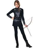 Warrior Huntress Tween Costume Everdeen Katniss Hunger Games All Black H... - $27.90