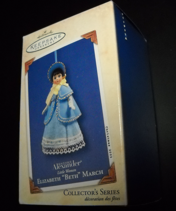 Primary image for Hallmark Keepsake Ornament 2003 Beth 3rd in Little Women Series Madame Alexander
