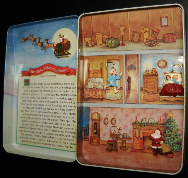 Primary image for Hallmark Keepsake Christmas Ornament Set 1992 The Night Before Christmas Boxed