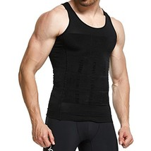 GKVK Mens Slimming Body Shaper Vest Shirt Abs Abdomen Slim,XLchest size ... - $17.31