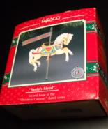 Enesco Ornament Treasury of Christmas 1991 Carousel Santa's Steed Origin... - $11.99