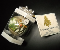 Mill Falls Studio Christmas Ornament 1979 Christmas Snow Currier and Ives Boxed - $13.99