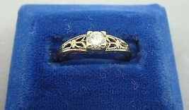 14K Gold Ring with .20ct Genuine Natural Diamond (#932) - $423.23