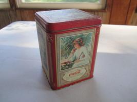 "1993 Coca Cola Vintage Look Trinket Jewelry Tin Box 6"" x 4.25"" x 4.25"" - $13.36"