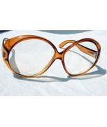 Vintage Amber Celluloid Oversized Fashion Eyeglasses Frames Made in Austria - $27.71