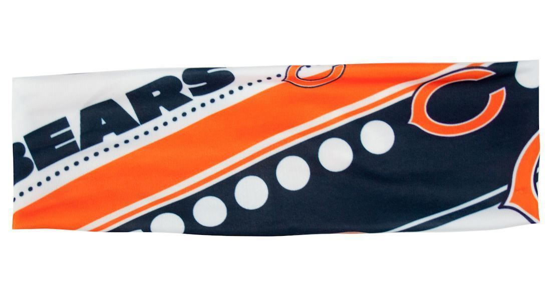 CHICAGO BEARS STRETCH PATTERN HEADBAND GAME TAILGATE PARTY NFL FOOTBALL
